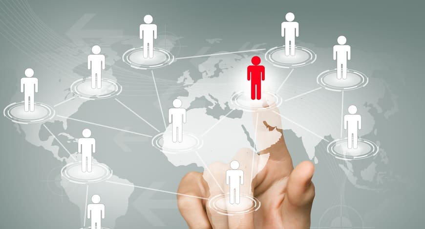 businessman-touching-red-icon-connected
