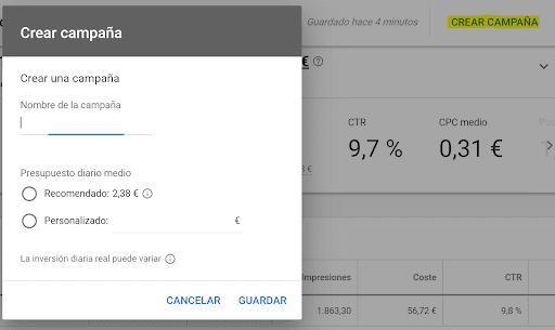 crear campaña Google Ads