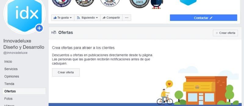 Puedes crear ofertas en tu página de Facebook
