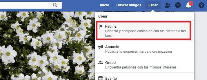 Facebook como crear una página