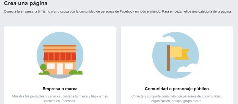 Perfil de empresa o perfil de personaje público en Facebook