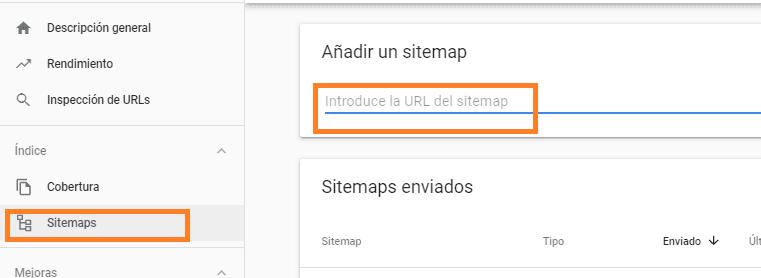 Enviar sitemap para indexar página en Google