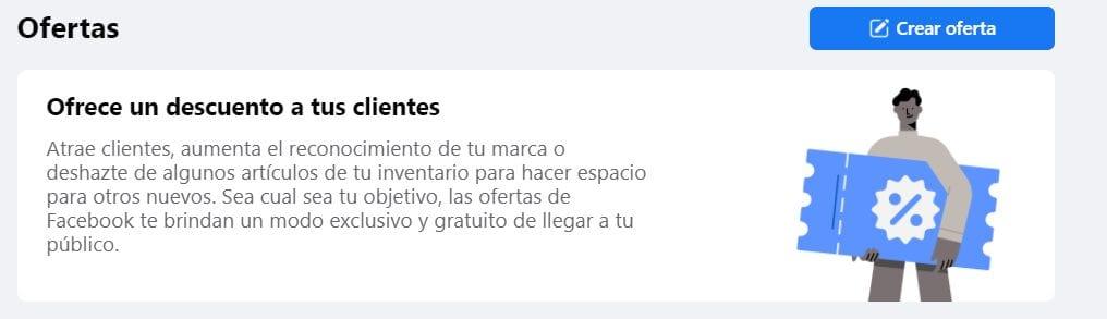 Crear oferta en Facebook
